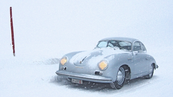 54 Continental: Studded tyres and up the hill!