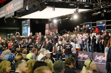 Strange, but true - there's an auction going on in there. Barrett-Jackson's Arizona sale