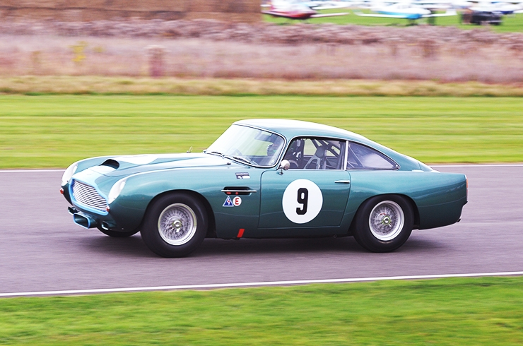 Original DB4 GT pressing on at Goodwood