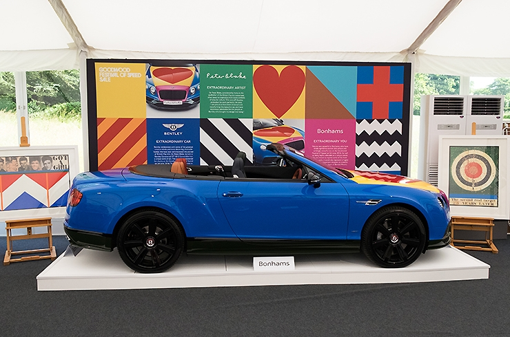 Bentley painted by Peter Blake raises £250k for charity