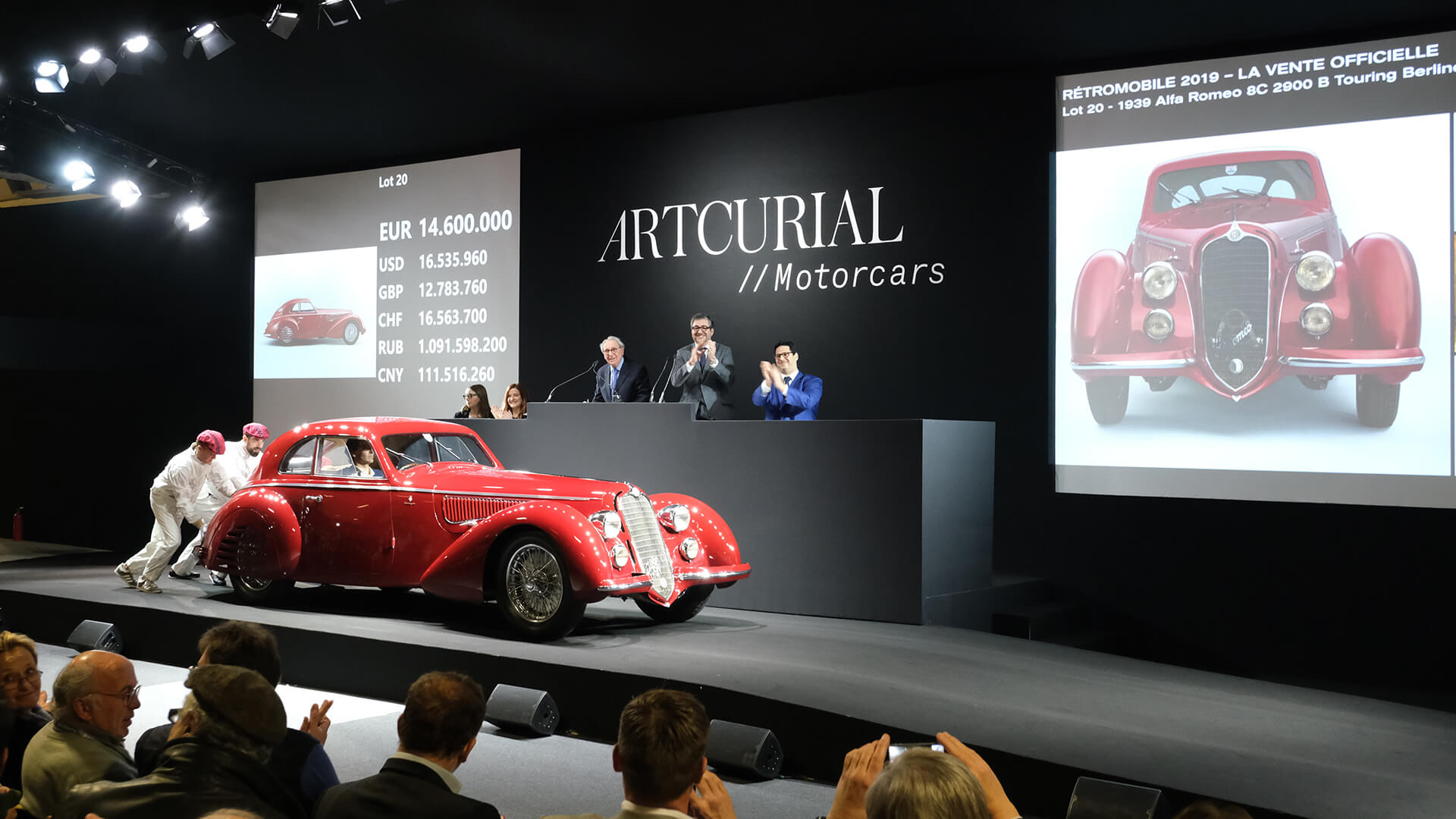 Fortune favours the brave – Artcurial sells the Alfa Romeo 8C 2.9 for €16.4m