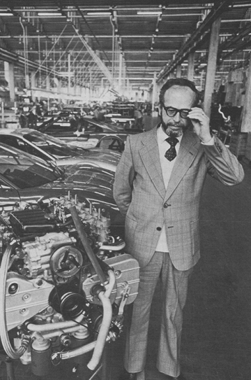 Dr Ing Giuliano de Angelis, the Boxer engine's designer. A very self-effacing man, little known, the author remembers